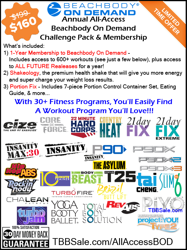 Beachbody on Demand All Access Challenge Pack